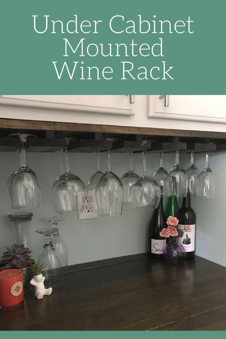 Under Cabinet Mounted Rustic Wood Wine Rack Rustic Decor
