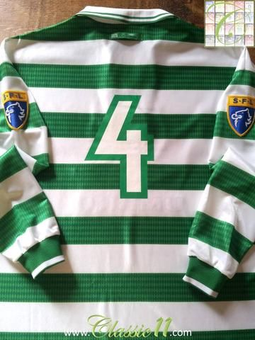 3b101c81c Relive Jackie McNamara s 1997 1998 SPL season with this original Umbro  Celtic home long sleeve football shirt.