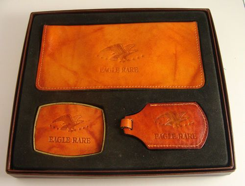 Beautiful Crafted Leather Wallet Set - Eagle Rare #beautiful #leatherwallet #eagelrare #wallet