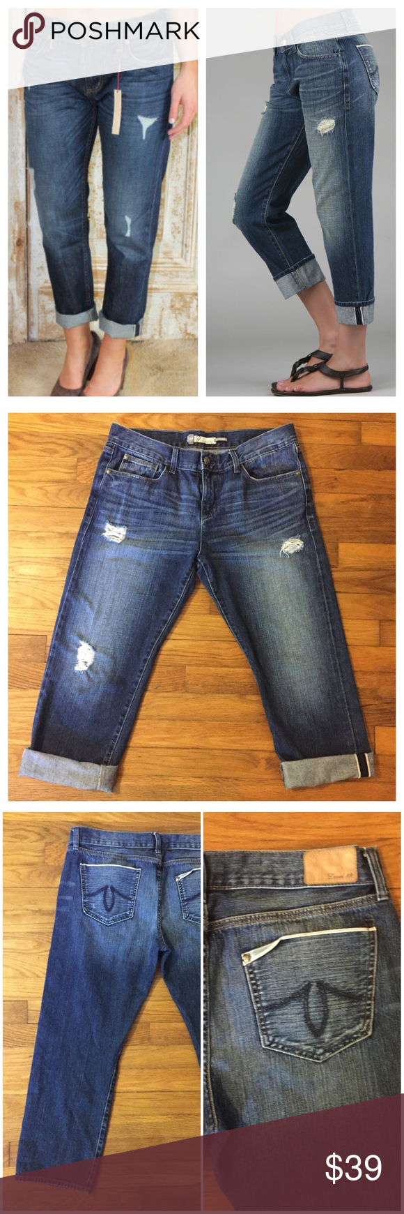 Level 99 Anthropologie Boyfriend Destroyed Jeans Level 99 Anthropologie Boyfriend Destroyed Capri Ankle Jeans --- size 29 --- good preloved condition --- no imperfections --- more details to come ---  Anthropologie Jeans Boyfriend