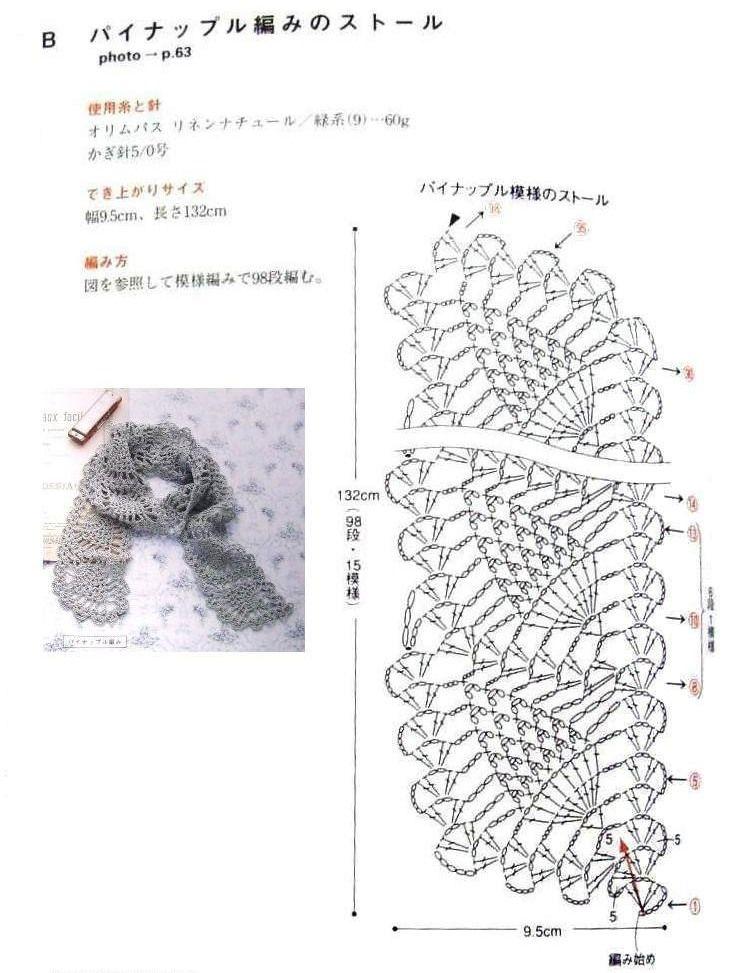 теплый шарф крючком схемы и описание фото