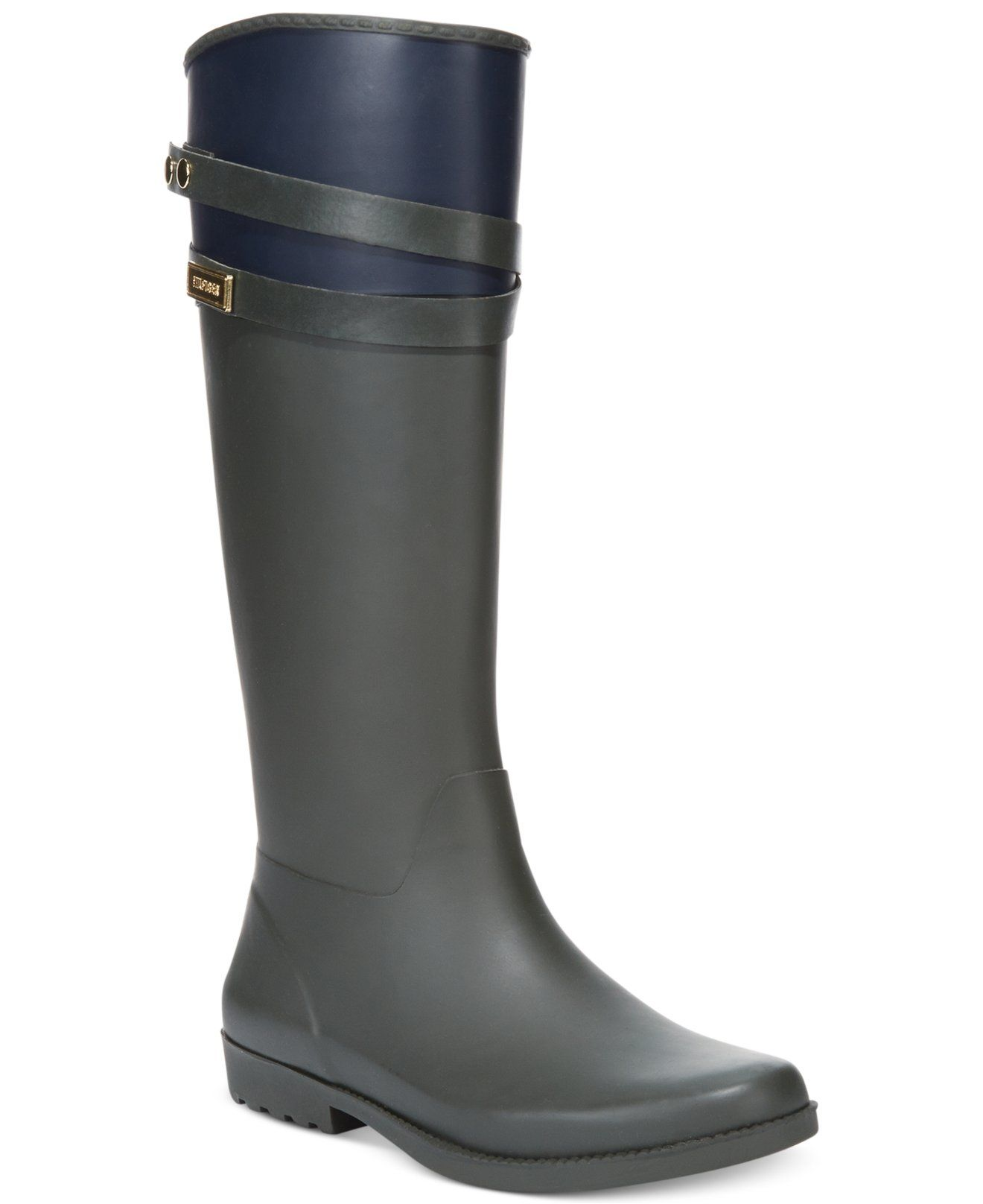 27498be0dc5de Tommy Hilfiger Women s Coree Tall Rain Boots - Shoes - Macy s  79 ...