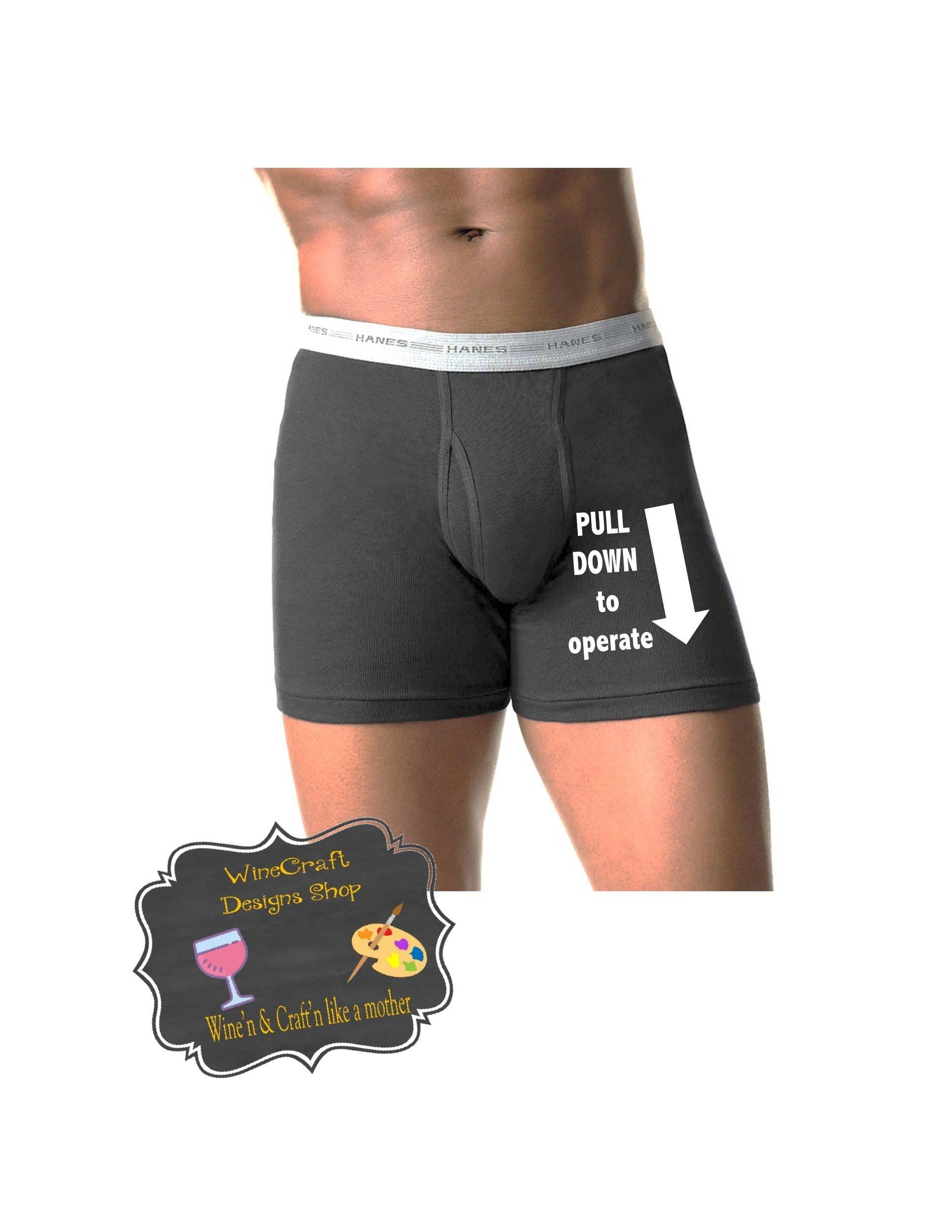 Wedding anniversary gift Boyfriend gift Custom underwear. Funny mens underwear Mens personalized underwear Property of underwear