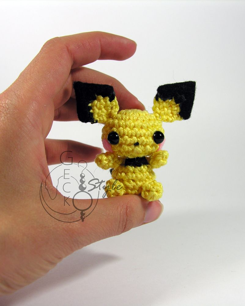 Mini-Pokémon de crochê