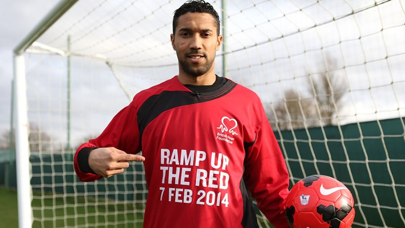 Clichy goes red for the British Heart Foundation http://www.mcfc.co.uk/News/Club-news/2014/January/Clichy-goes-red-for-the-British-Heart-Foundation