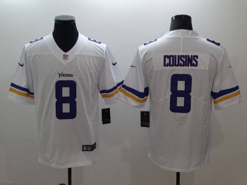 Nike Vikings 8 Kirk Cousins White Vapor Untouchable Limited Jersey ... 3723a7676