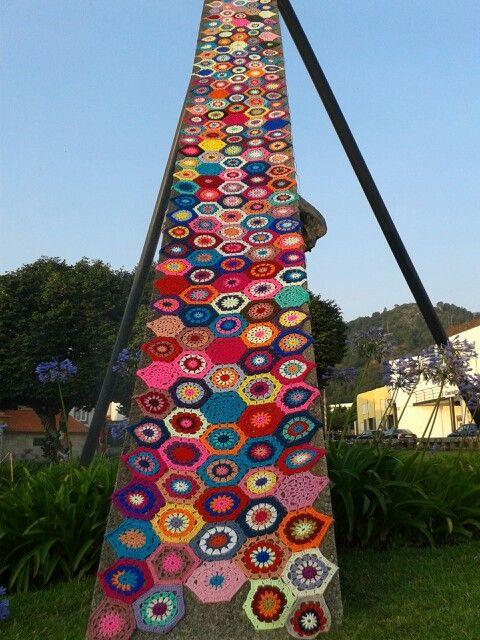 Hasta El Infinito Vila Nova De Cerveira Portugal Crochet Hexagon Hexagon Inspiration