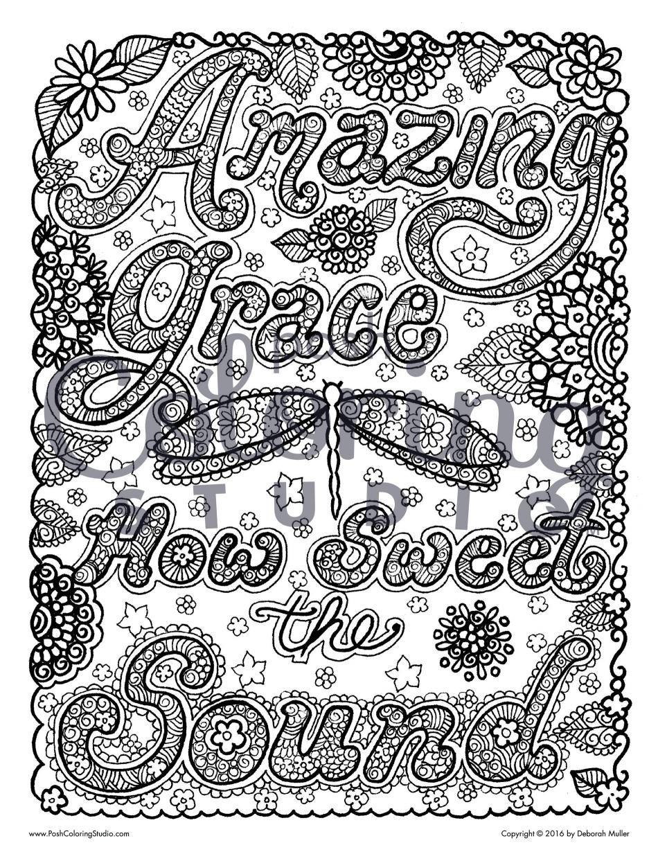 Grace Coloring Page