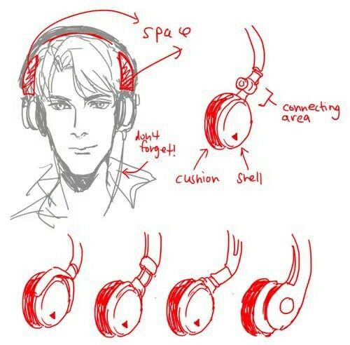 Headphones Tutorial Risovat Risovanie Eskizov Risovanie Mangi