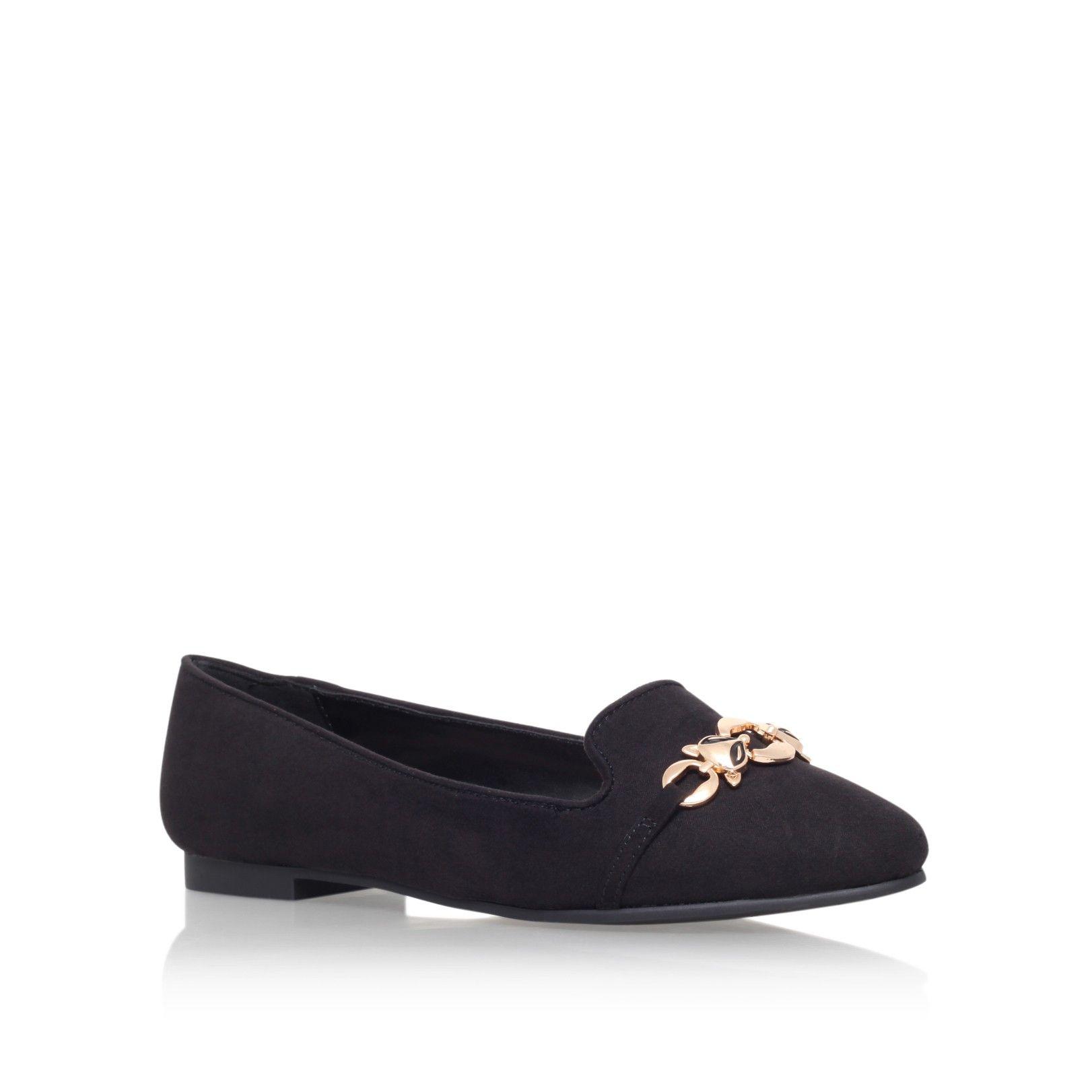 carvela flat black shoes