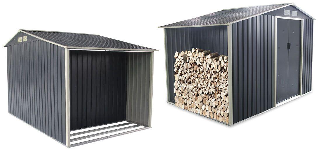 Abri De Jardin Bucher En Metal 8 7m Gris Anthracite Abri De Jardin Abri Metal Et Abri