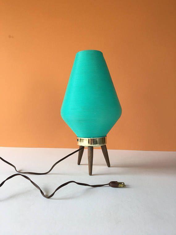 Vintage Atomic Table Lamp Beehive Lamp Mid Century Modern Table