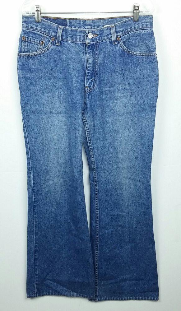 8605151d9e Levi s 523 Women s Size 11 Juniors Jeans Big Flare Low Rise Cotton Denim  Vintage