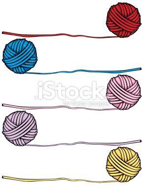 Balls Of Yarn In 5 Different Colors Yarn Yarn Ball Ball Drawing