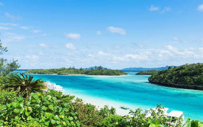 Lataa kuva Okinawan Saaret, meri, lagoon, Ishigaki, kesällä, Okinawa, Japani