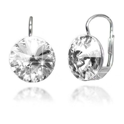 Stříbrné náušnice Swarovski Elements s krystaly BSG31369-V12-bezbarvá 6f894041aab