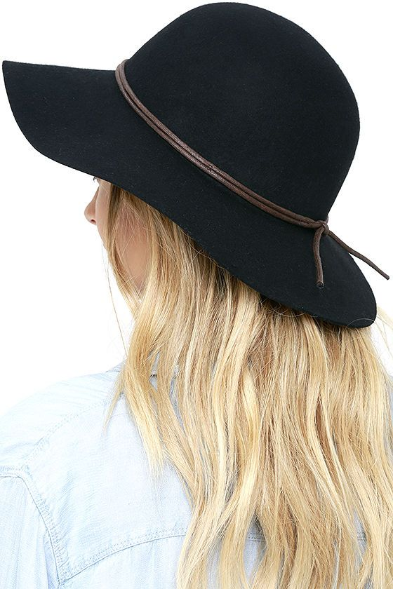3c4f74e85a008 Billabong Lovely Dream Black Floppy Hat at Lulus.com!
