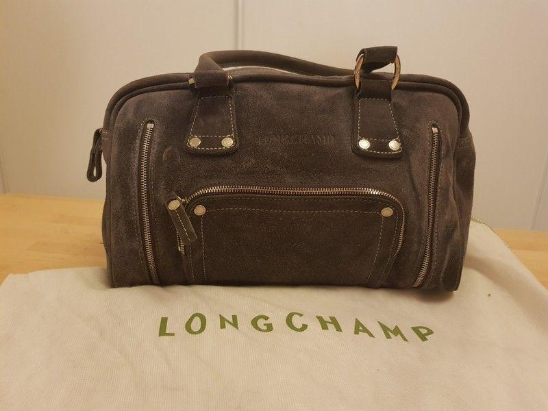 85686039a2 Sac Longchamp en cuir/daim plomb | Sac | Sac femme, Sac et Sac à Main
