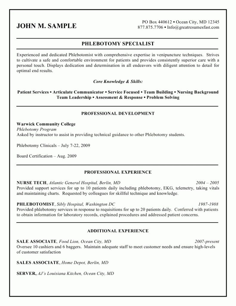 resume Phlebotomy Resume pin by topresumes on latest resume pinterest phlebotomy and template certified phlebotomist templates httptopresume infocertified phlebotomist