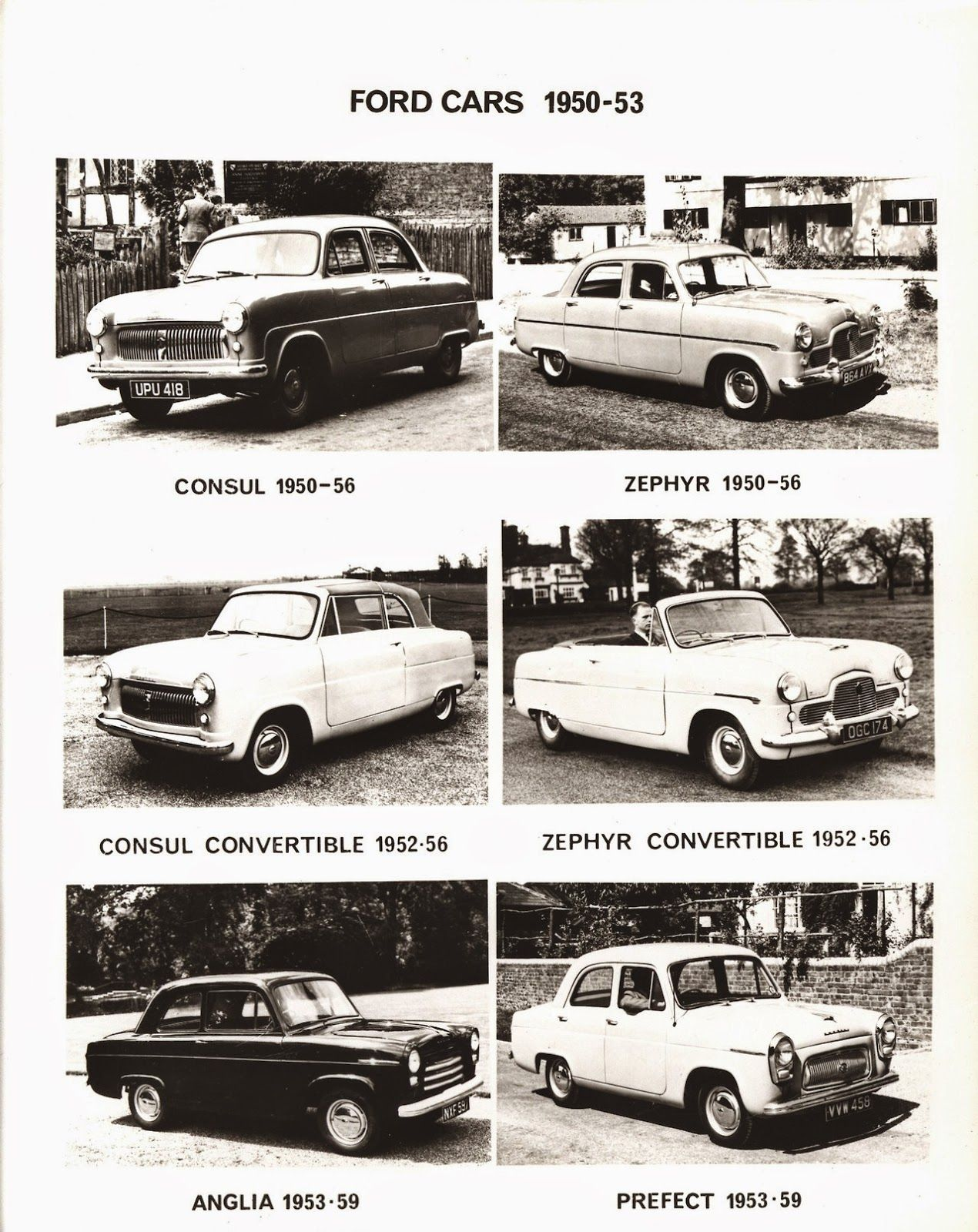 Ford Of England Cars Through The Years 1928 1958 Ford Cars Old