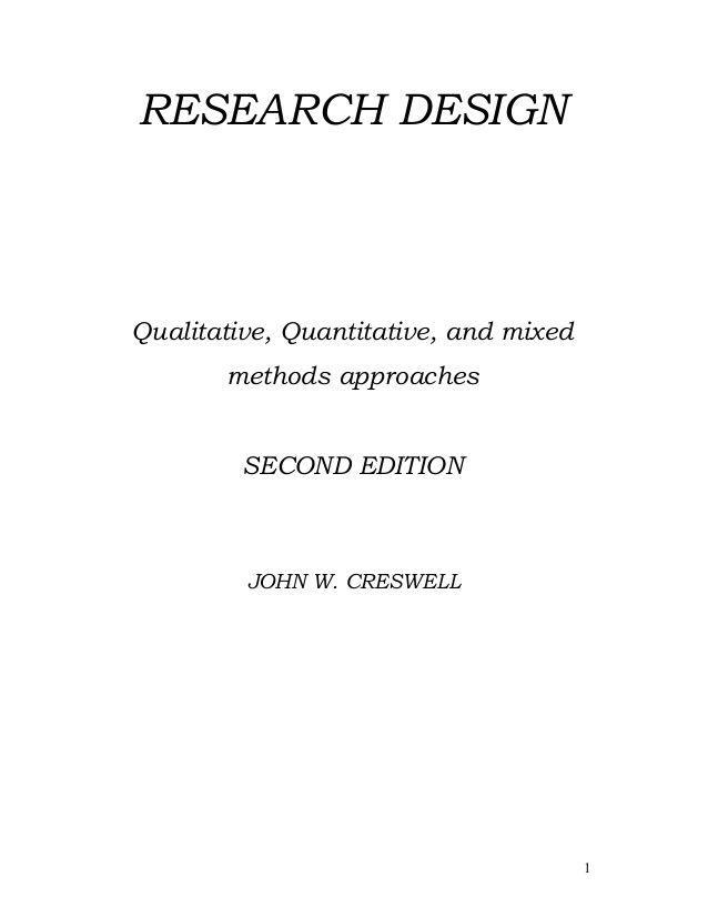 RESEARCH DESIGN Qualitative, Quantitative, and mixed methods - sample quantitative analysis