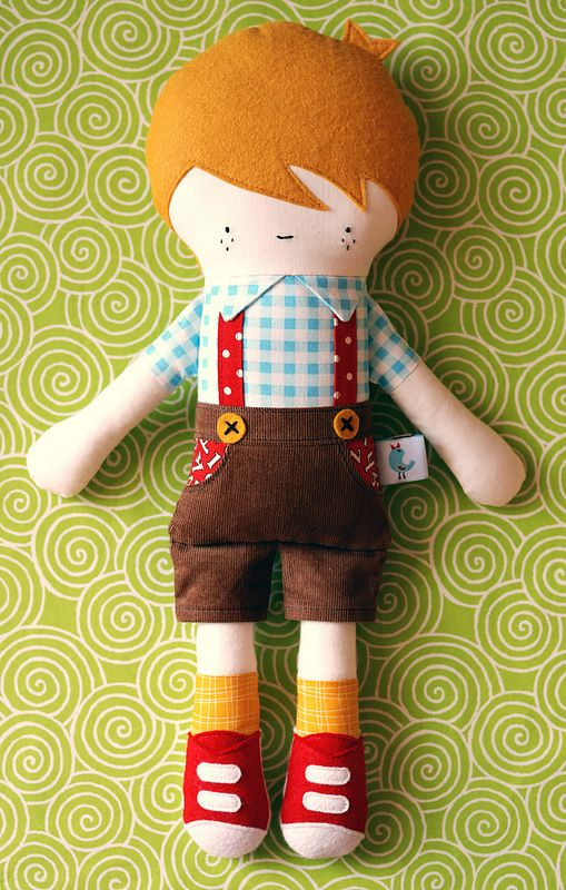 """Hans"" by Retro Mama,  just adorable!@Ali Velez Velez Velez Velez Velez LaVanway, this reminded me so much of the sweet doll you made your little girl I had to link this to you in case she needed a friend=)"