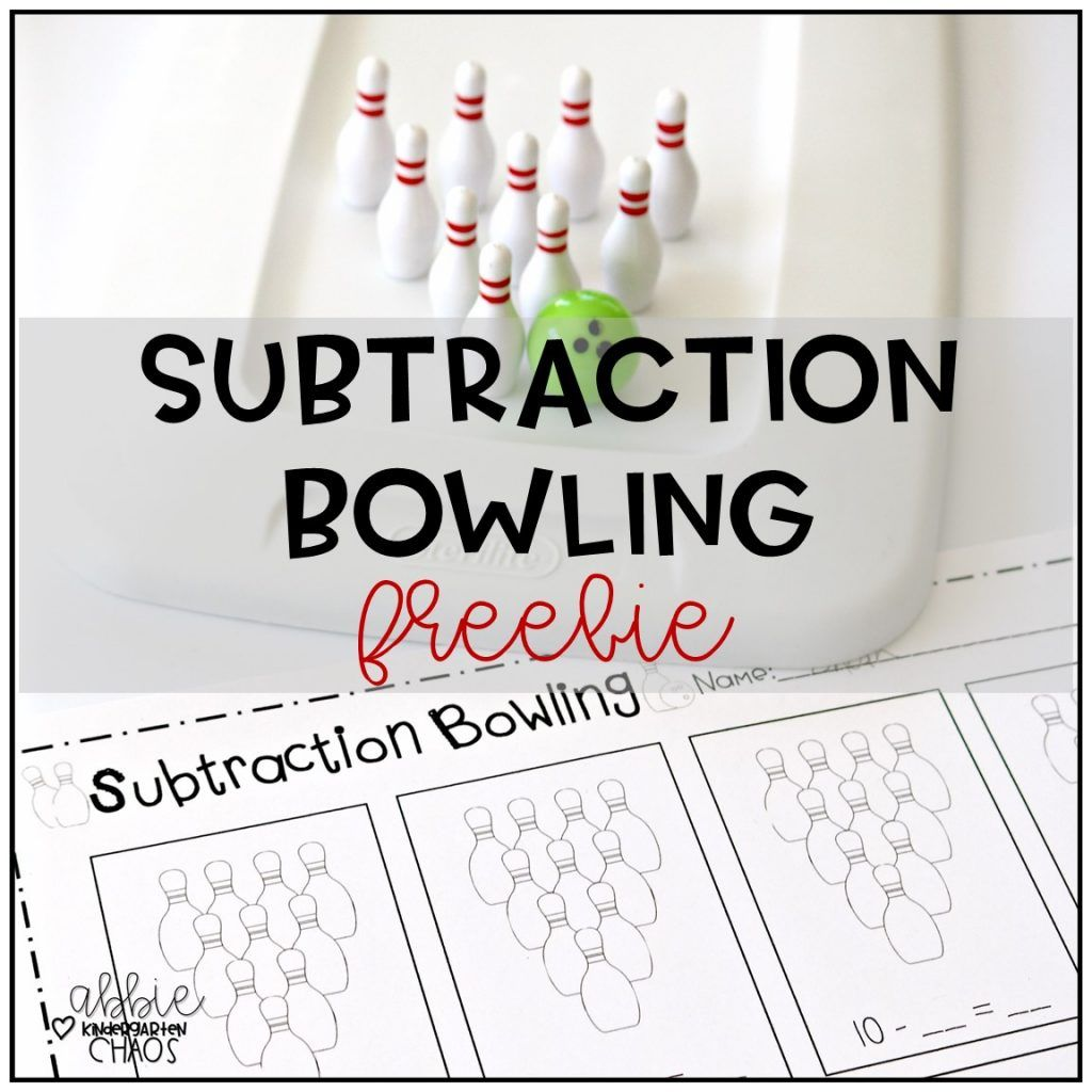 Subtraction Bowling Freebie Game For Kindergarten