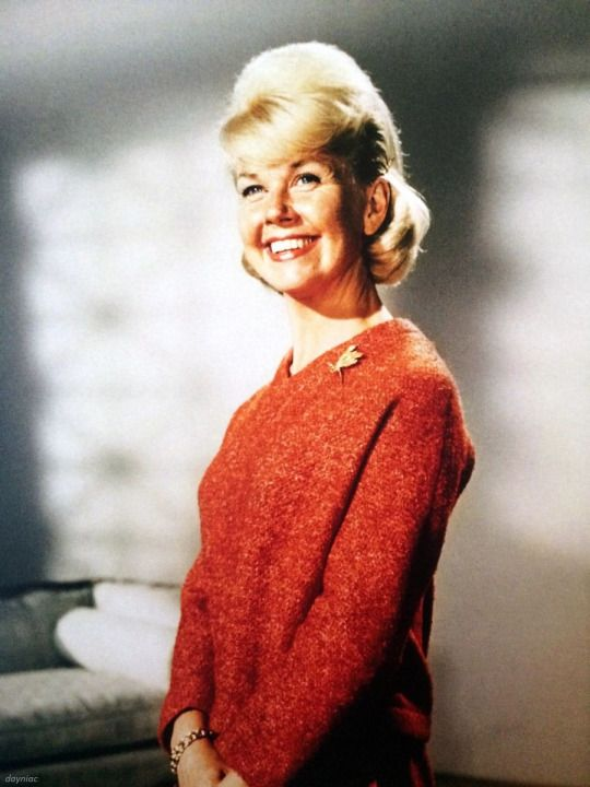 """Doris Day in wardrobe test for """"That Touch of Mink"""""""