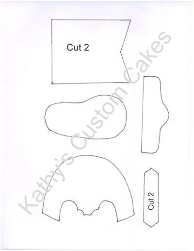 Baby Cowboy Boot Template - Here is the template I created I am no