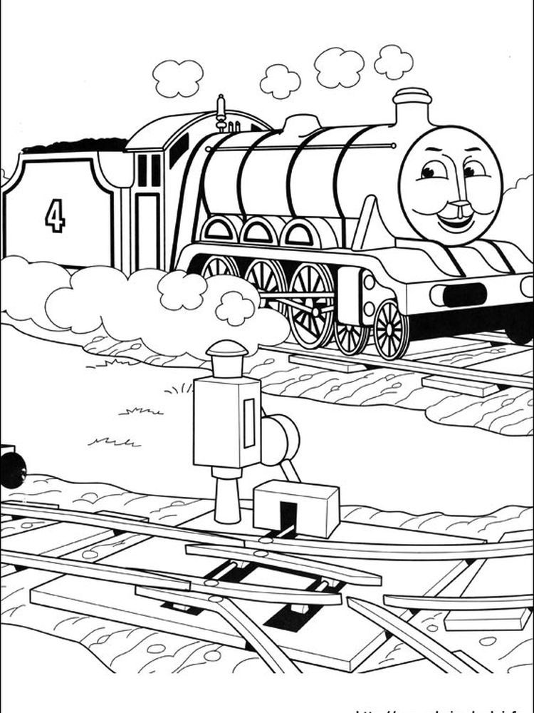 Simple Thomas The Train in 2020 Train coloring pages