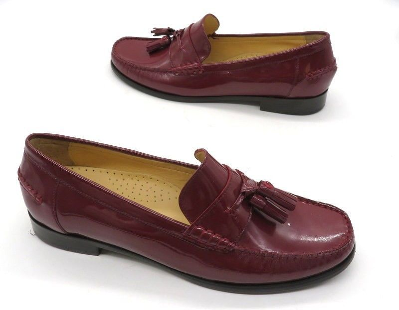 03b3d3da20b COLE HAAN Size 9 Red Maroon Patent Leather Tassel Slip On Loafers Shoes   fashion  clothing  shoes  accessories  womensshoes  flats (ebay link)
