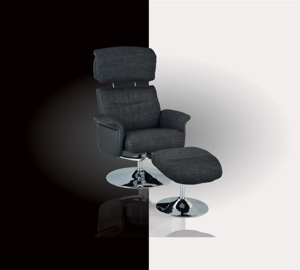 Superbe fauteuil de relaxation COOL avec pouf bi mati¨res pour