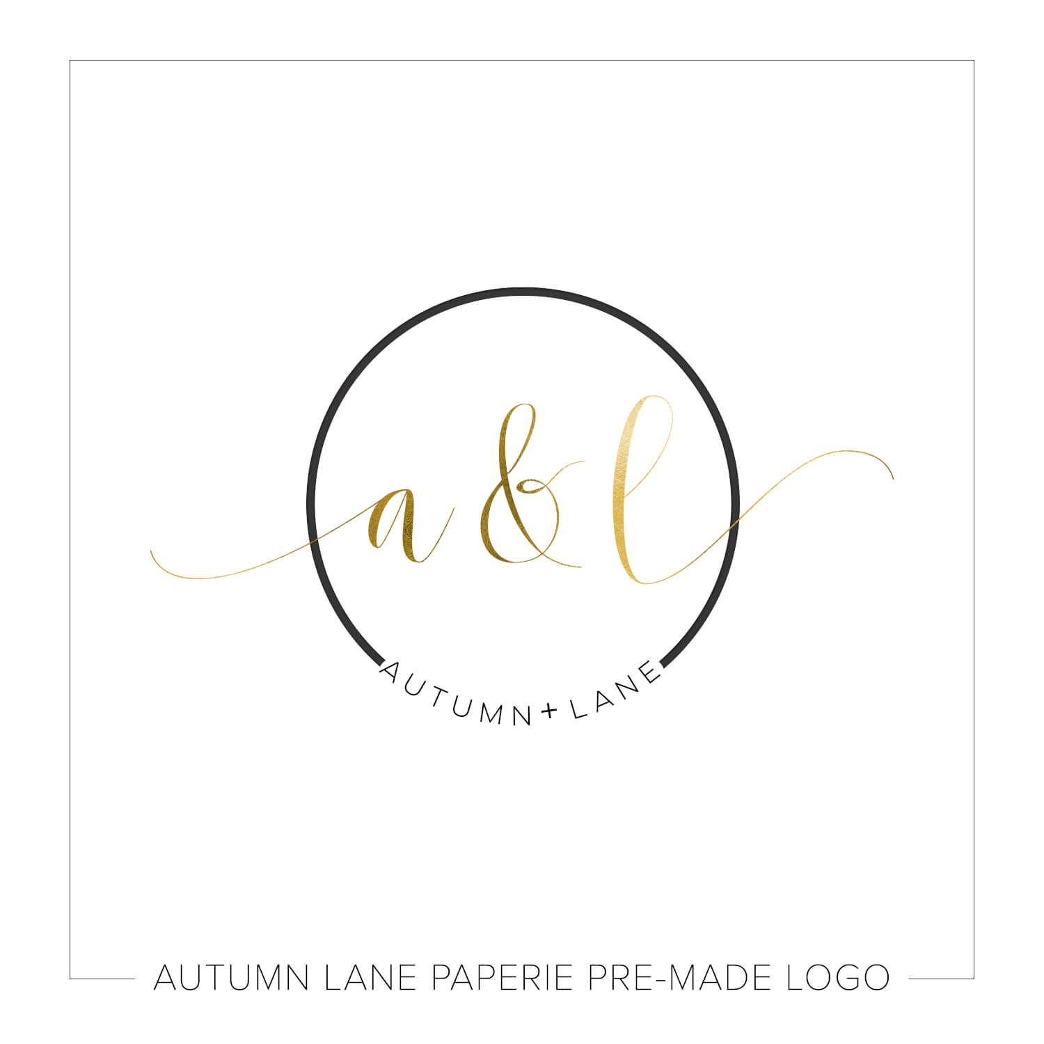 Gold Foil Initials Circular Wedding Logo Wedding Logos Monogram