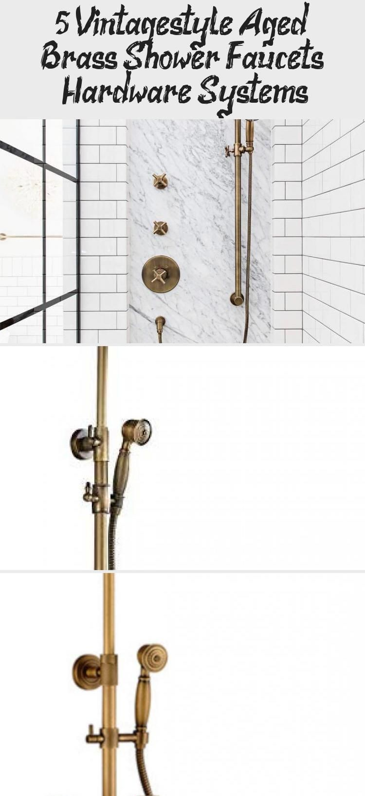 Photo of 5 Vintage-style Aged Brass Shower Faucets & Hardware Systems – Galafashion, Street Style, Outfits ideas