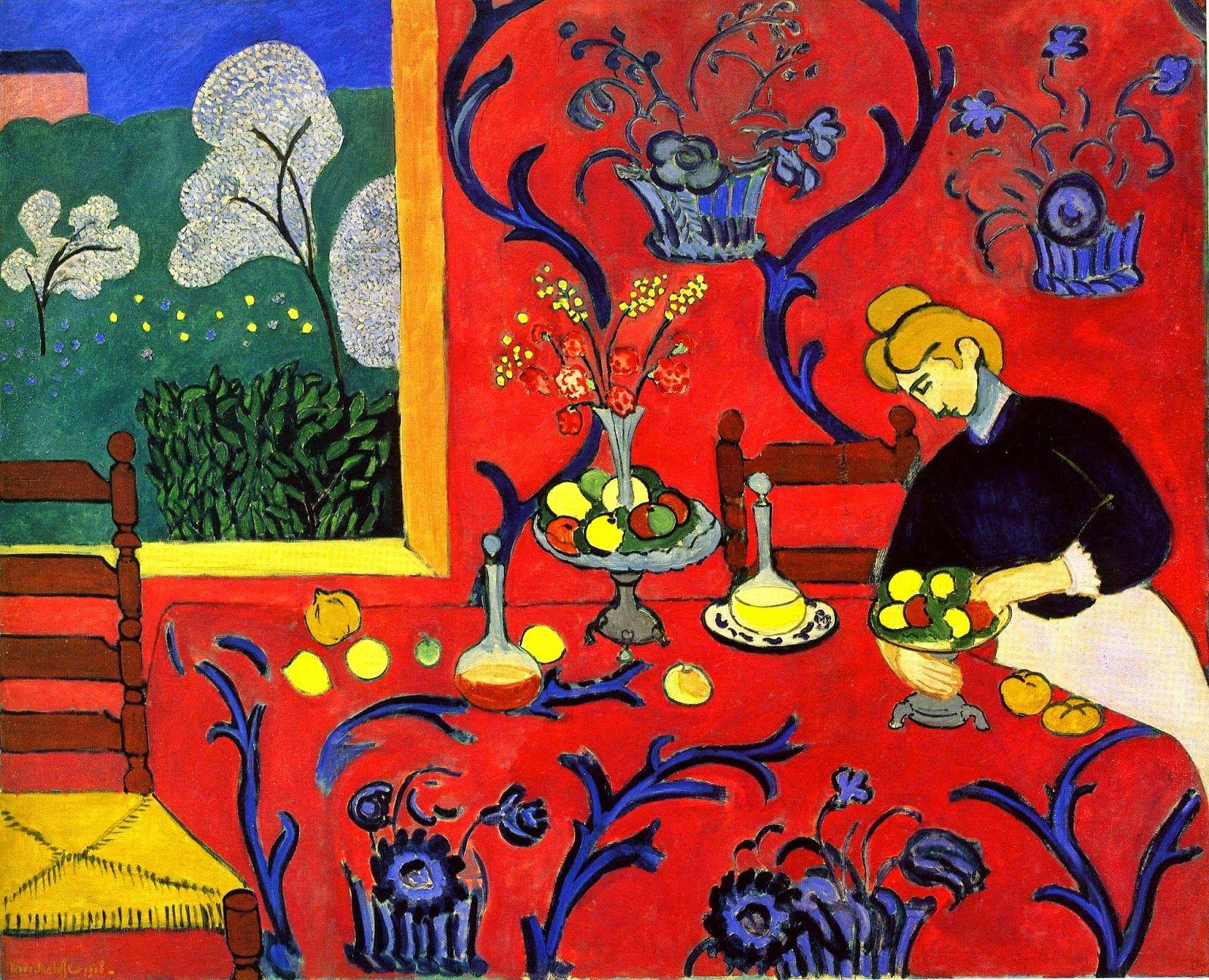 Henri Matisse, Harmony in Red. German Expressionism | Henri Matisse ...