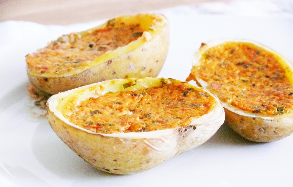 Vegane Küche - vegan kochen ist nicht schwer: vegane gefüllte Ofenkartoffeln