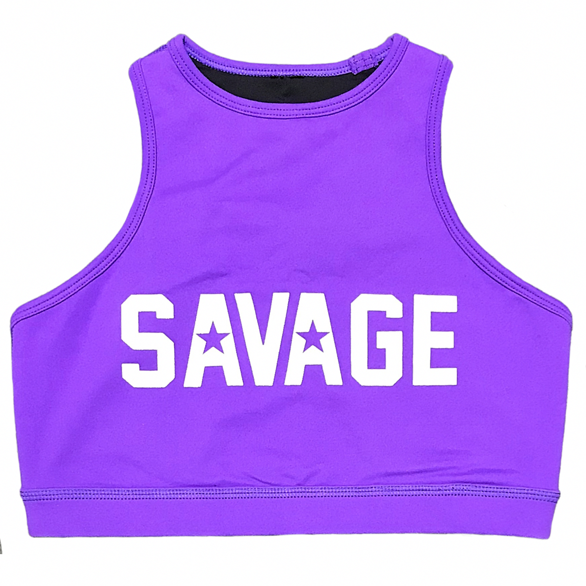 Sports Bra High Neck Purple Savage Barbell Apparel in