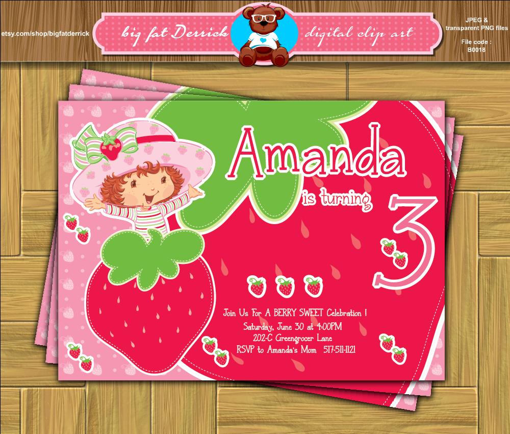 Custom Strawberry Shortcake Berry Sweet Rosita Fresita