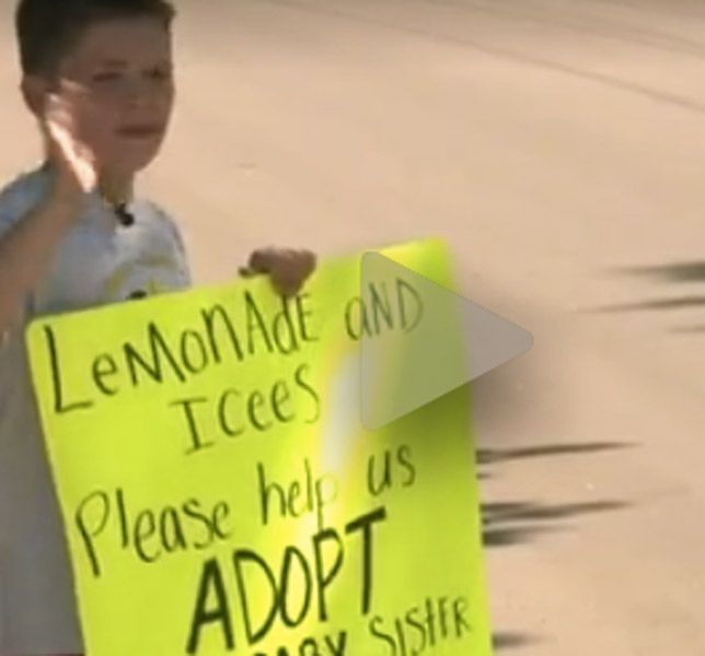 Boy Raises Funds For Baby Sister's Adoption With Lemonade Stand