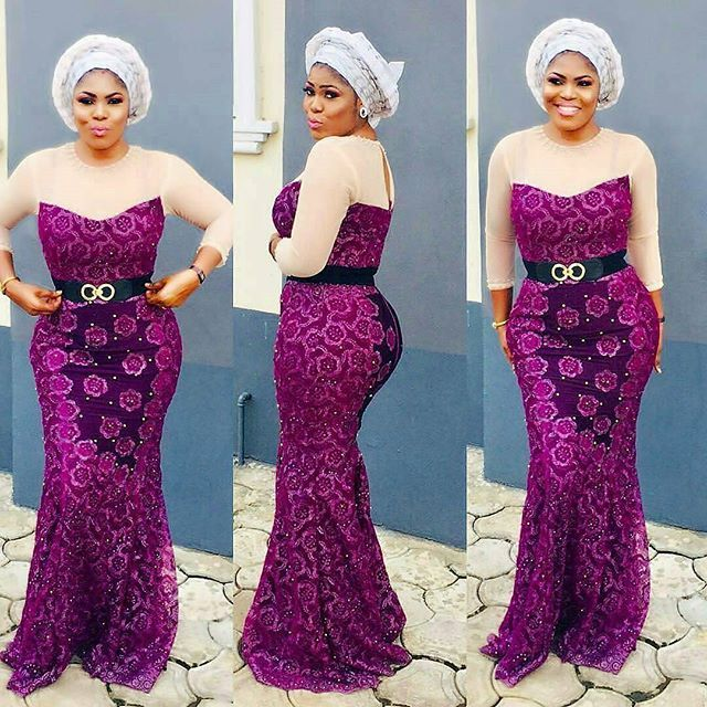 Latest Aso Ebi Lace Gowns Styles Ladies Are Rocking Now; Join The ...