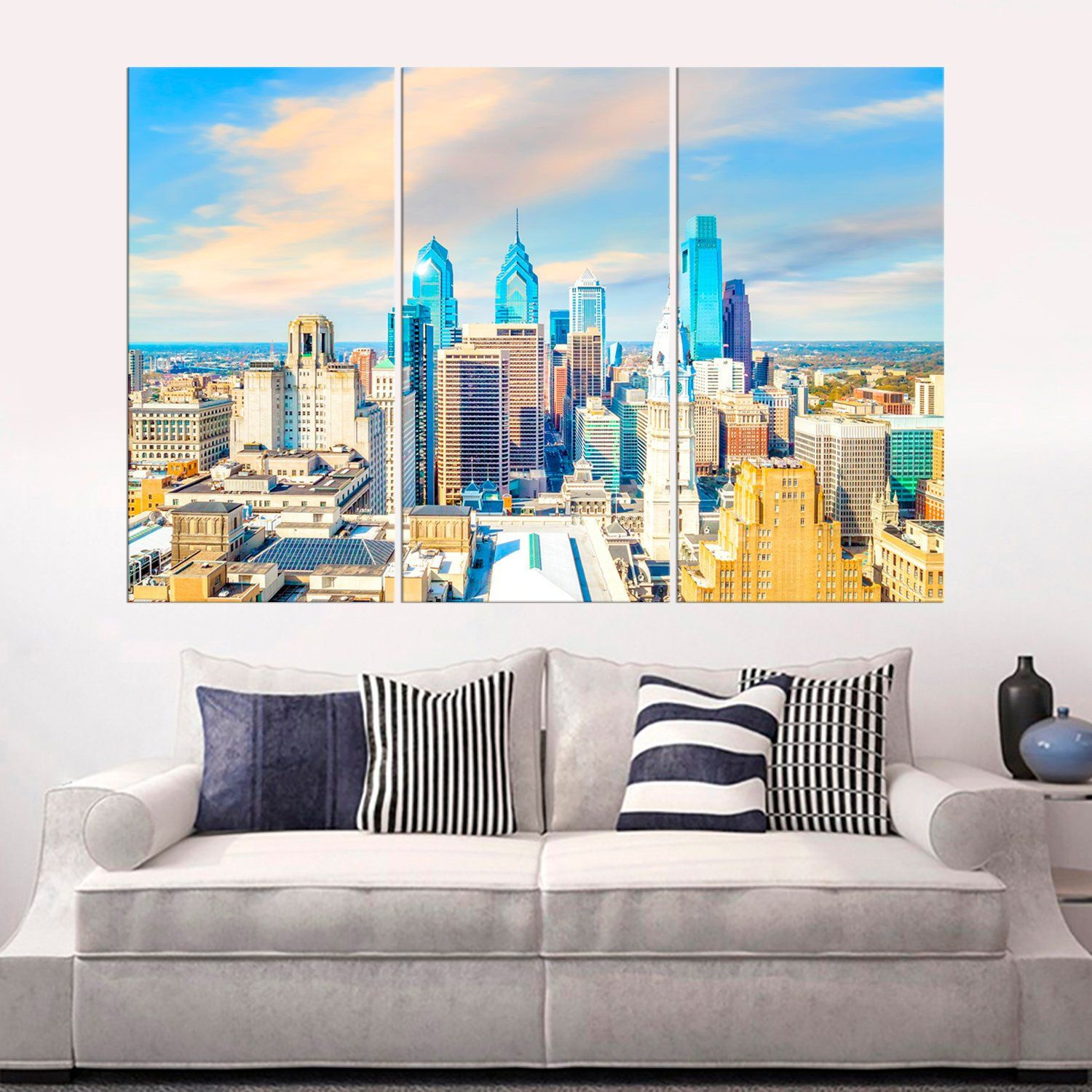 Philadelphia Usa Skyline Canvas Print Philadelphia Canvas Wall Etsy In 2020 Canvas Prints Canvas Wall Art Modern Prints