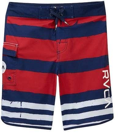 9a05e56efa RVCA 'Eastern' Scalloped Hem Board Shorts (Big Boys) in 2019 ...