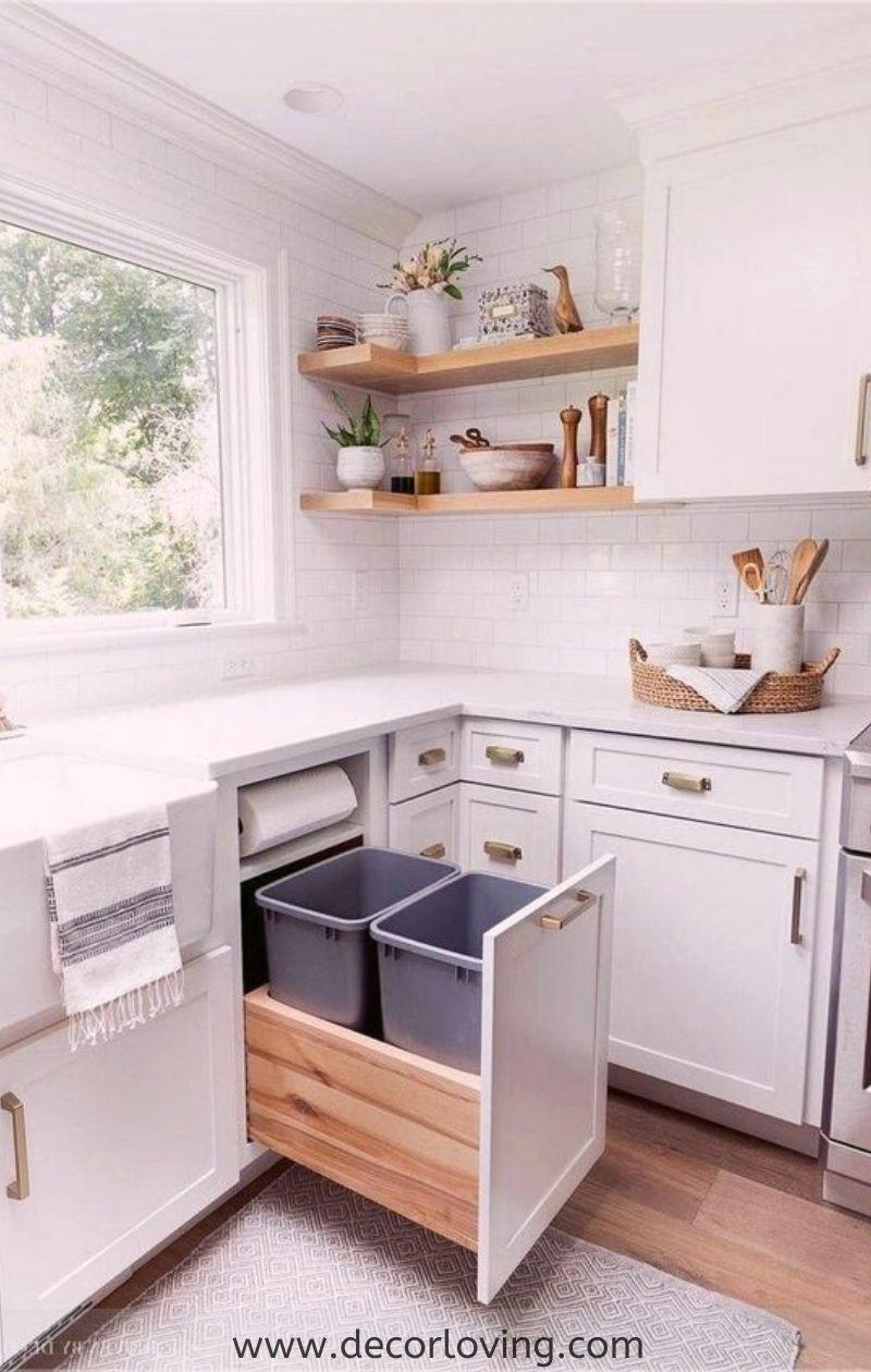 White Small Kitchen Design Ideas You Will Love For Home Decor ...