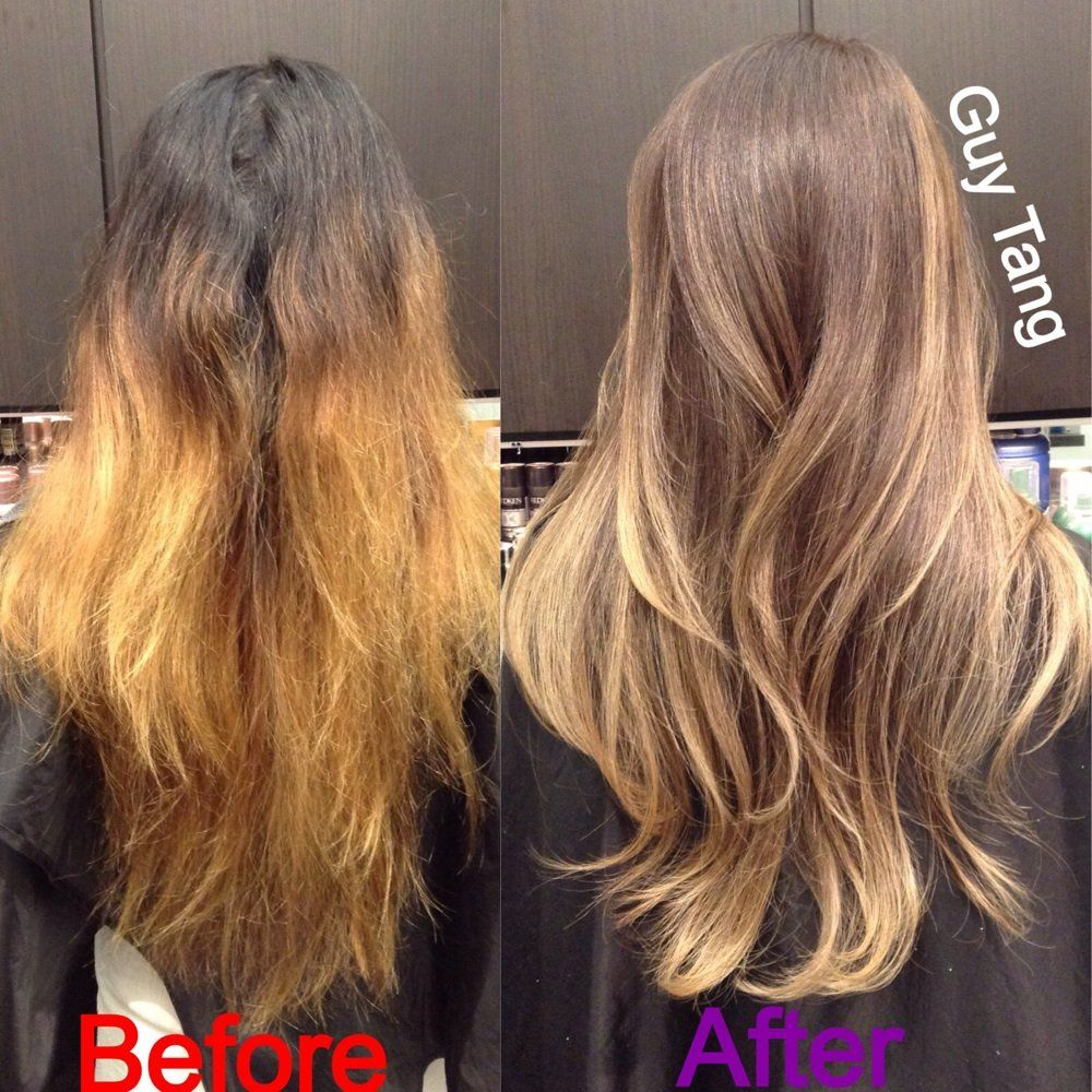 Ombre Color Correction By Guy Tang Yelp Brassy Hair Hair Hair Color For Black Hair