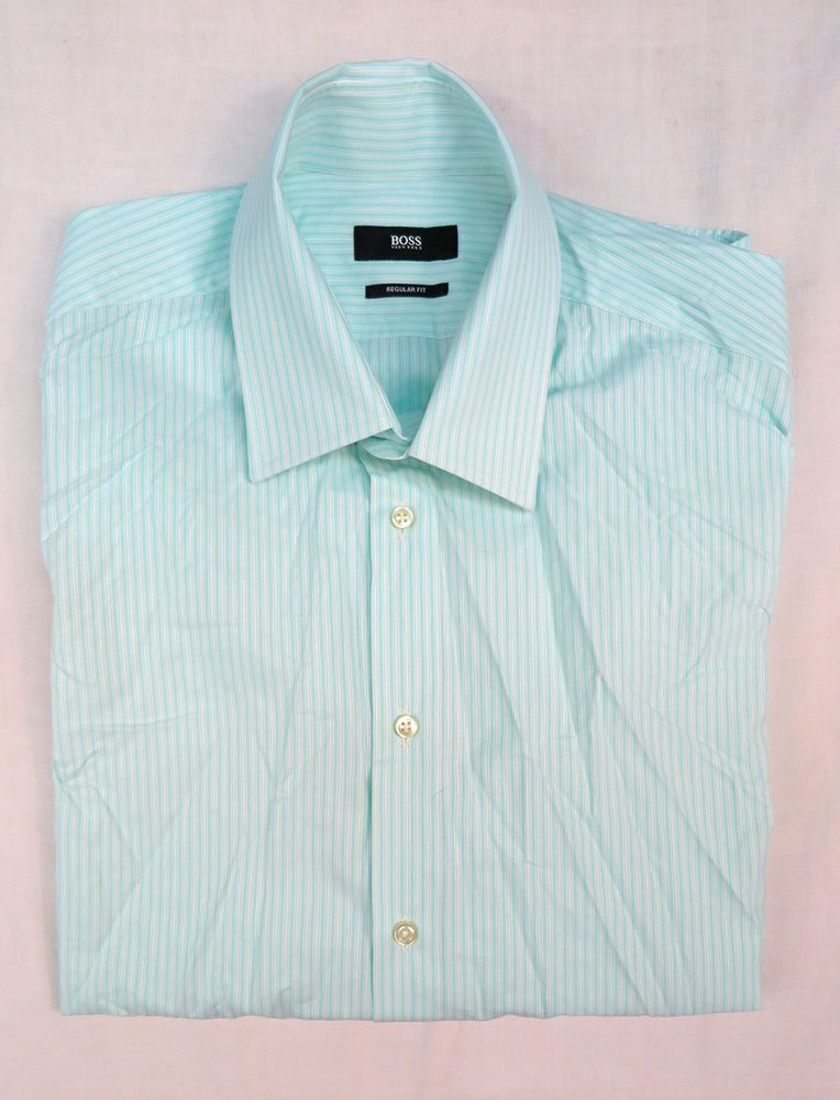 6fc8eb97 HUGO BOSS MENS REGULAR FIT SHIRT Size 42 / 16 #fashion #clothing #shoes