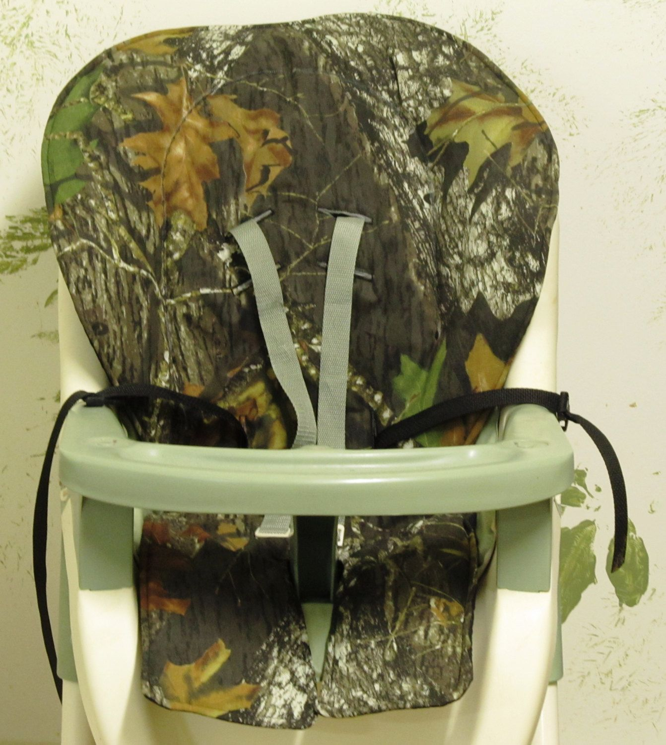 Graco high chair pink and brown - Graco High Chair Cover Pad Replacement Mossy Oak By Sewingsilly 42 00