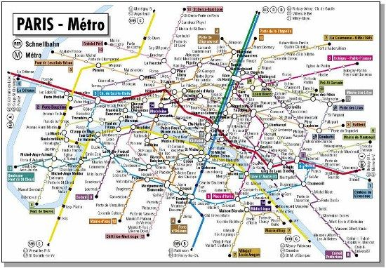 A better Paris Metro map paris travel tips