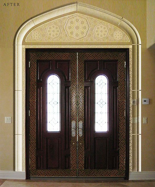 Entry Door Designed In Islamic Style Entry Door Designs Exterior Door Styles Door Design