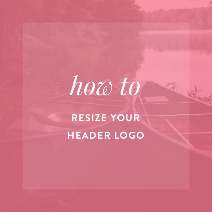 How to Resize your Header Logo Blog social media, Header