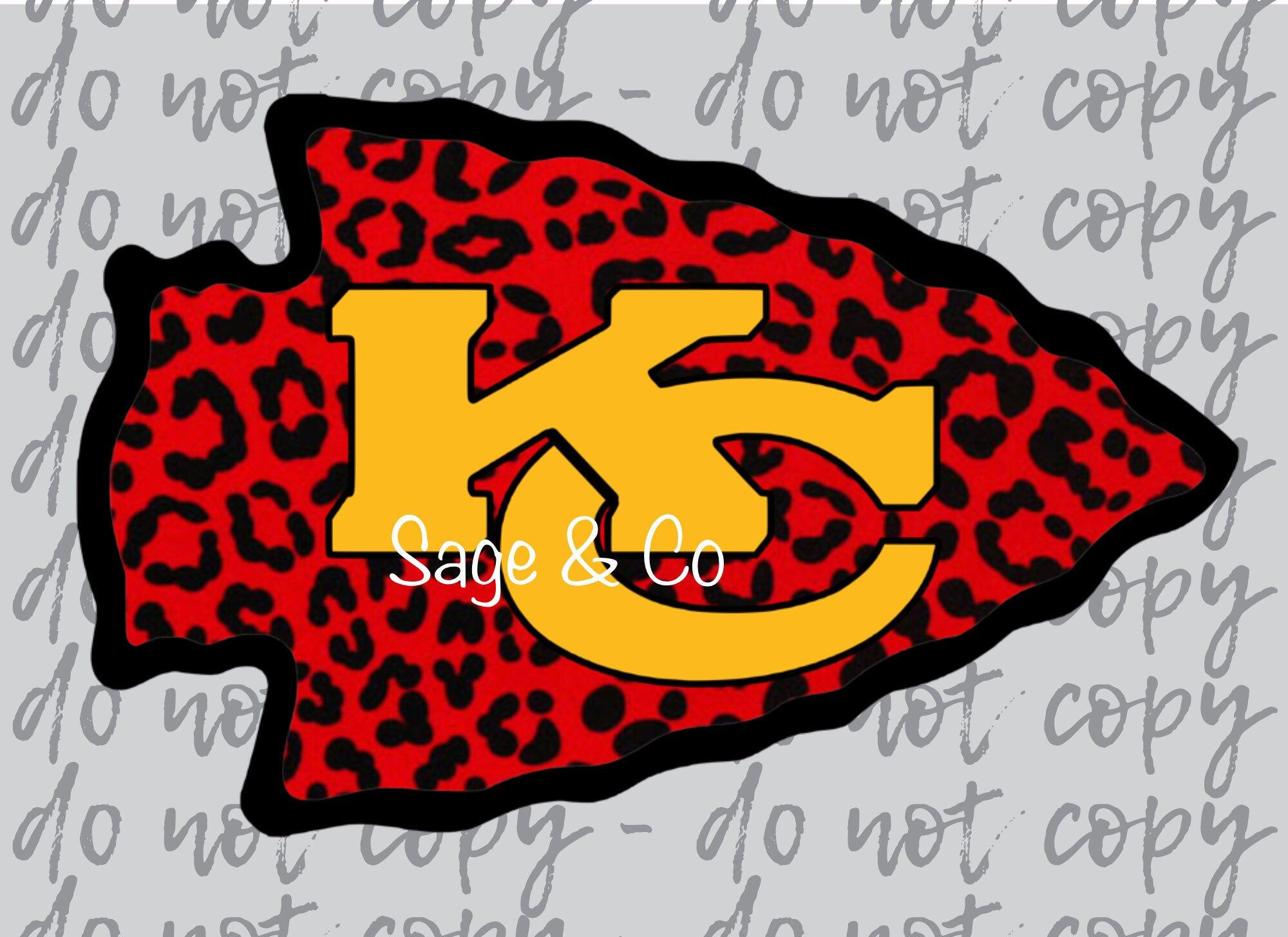 Kc Chiefs Cheetah Arrowhead Rts Sublimation Transfer Ready To Press Transfer Full Color Ready To Ship In 2020 Kc Chiefs Kansas City Chiefs Football Light Colored Fabric